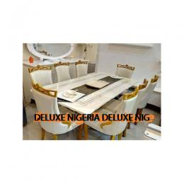 Marble Dinning With 8 Chairs