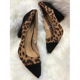 UNIQUE WOMEN'S LEOPARD SKIN LIKE HIGH HEEL SHOE (AVAILABLE IN ALL SIZES)