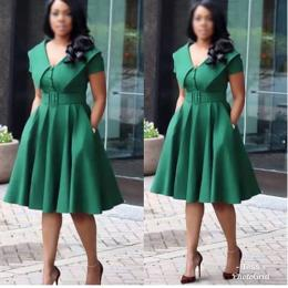 LADIES TOP NOTCH SHINNY GREEN CORPORATE GOWN|(AVAILABLE IN ALL SIZES)