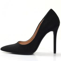 WOMEN'S HIGH STYLED BLACK HIGH HEEL SHOE (AVAILABLE IN ALL SIZES)