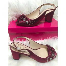 LADIES EXTRAVAGANT HIGH HEELS SHOE|WINE (AVAILABLE IN ALL SIZES)