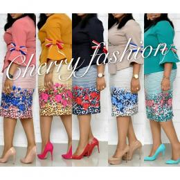 WOMEN'S CATCHY MULTI COLOUR SKIRT AND BLOUSE|CHOOSE SPECIFC COLOUR (AVAILABLE IN ALL SIZES)