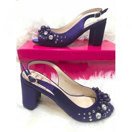 LADIES EXTRAVAGANT HIGH HEELS SHOE|PUR (AVAILABLE IN ALL SIZES)