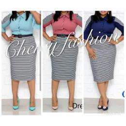 LADIES CLASSY CORPORATE DRESS 2(AVAILABLE IN ALL SIZE)