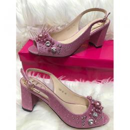 LADIES EXTRAVAGANT HIGH HEELS SHOE|PINK (AVAILABLE IN ALL SIZES)
