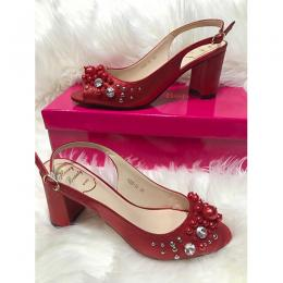 LADIES EXTRAVAGANT HIGH HEELS SHOE|RED (AVAILABLE IN ALL SIZES)