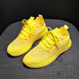 LUXURY HIGH STYLED FASHION SNEAKER|YELLOW(AVAILABLE IN ALL SIZES)
