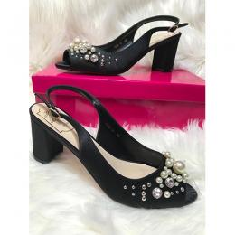LADIES EXTRAVAGANT HIGH HEELS SHOE|BLACK (AVAILABLE IN ALL SIZES)