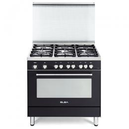 ELBA 9S4 EA 688 F 6 BLACK ANTHRACITE GAS BURNER + GAS OVEN COOKER