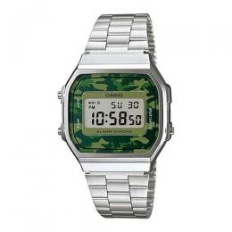 CASIO GENTS A168WEC-3DF METAL BASIC DIGITAL BRACELET WATCH