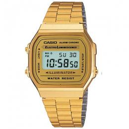 CASIO GENTS A168WG-9WDF METAL BASIC CHRONO WATCH