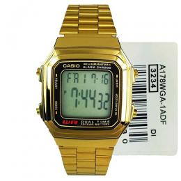 CASIO GENTS A178WGA-1ADF METAL BASIC DIGITAL BRACELET WATCH