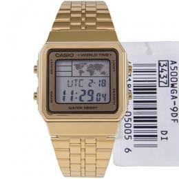 CASIO GENTS A500WGA-9DF METAL BASIC DIGITAL WORLD TIME WATCH