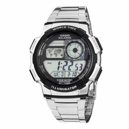 CASIO AE1000WD-1AV MEN'S SILVER-TONE DIGITAL WATCH