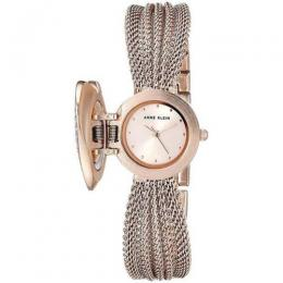 ANNE KLEIN AK/3192RGCV WOMEN'S ROSE GOLD-TONE MESH BRACELET SMALL WATCH