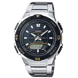 Casio AQS800WD-1EV Men's Slim Solar Multi-Function Analog-Digital Watch