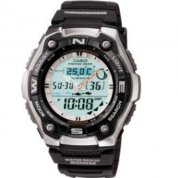 Casio AQW101-1AV Men's Analog/Digital Fishing Gear Timer Sports Watch