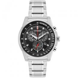 CITIZEN AT2370-55E MEN'S BRYCEN CHRONOGRAPH BLACK DIAL WATCH