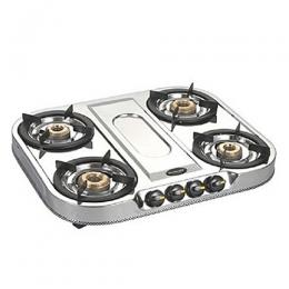 Bajaj Pride 4 Burner Stainless Steel Table Top SS-4B
