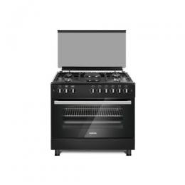 BRUHM STANDING GAS COOKER BGC-9642GS SILVER 90*60 WITH FAN 4GAS BURNER+2ELECTRIC (DE)