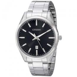SALE CITIZEN BI1030-53E MEN'S QUARTZ BLACK DIAL STAINLESS STEEL BRACELET WATCH