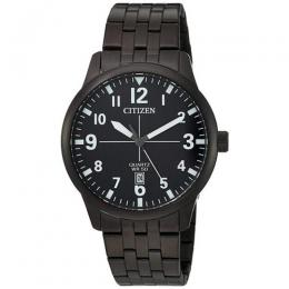 CITIZEN BI1055-52E MEN'S QUARTZ STAINLESS STEEL BLACK MEDIUMWATCH