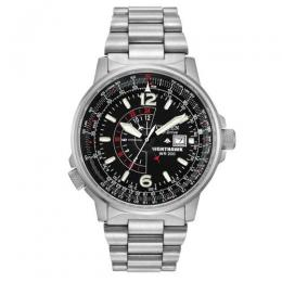 CITIZEN BJ7000-52E MEN'S ECO-DRIVE PROMASTER NIGHTHAWK DUAL TIME WATCH