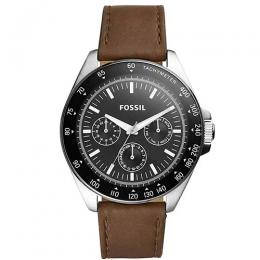 FOSSIL BQ2294 MEN'S NEALE CHRONOGRAPH BROWN LEATHER WATCH