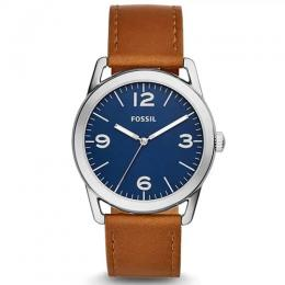 FOSSIL BQ2304 MEN'S 'LEDGER' BROWN LEATHER WATCH