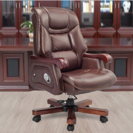 Recliner Brown Leather Chair