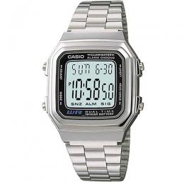 Casio A178WA-1A Men's Illuminator Stainless Steel Watch
