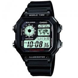 Casio AE1200WH-1AV Men's Digital Black Plastic Quartz Watch