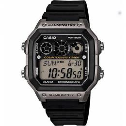 Casio AE1300WH-8AV Men's Digital Black Rubber Quartz Watch