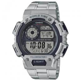 CASIO AE1400WHD-1AV MEN'S QUARTZ ILLUMINATOR WORLD TIME STAINLESS WATCH