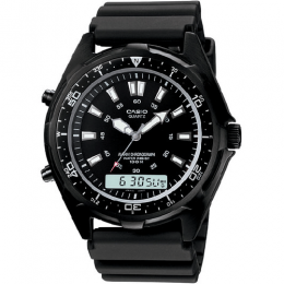 Casio AMW320B-1AV Men's Ana-Digi Black Resin Ion Plated Watch