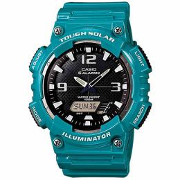 Casio AQS810WC-3AV Men's Teal Solar Analog Digital World Time Sports