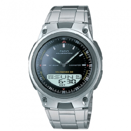 Casio AW80D-1AV Men's 10-Year Battery Ana-Digi Bracelet Watch