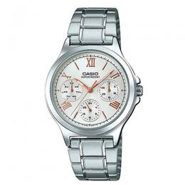 CASIO LADIES LTP-V300D-7A2UDF MULTI-FUNCTION SILVER DIAL MEDIUM WATCH