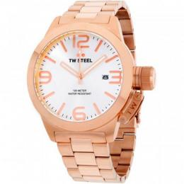 TW STEEL CB162 MEN'S CANTEEN QUARTZ SILVER DIAL ROSE GOLD LARGE WATCH