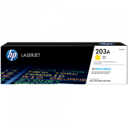 HP 203A Yellow Original LaserJet Toner Cartridge (CF542A)