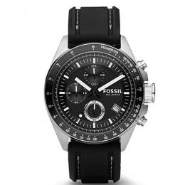 FOSSIL CH2573IE MEN'S DECKER CHRONOGRAPH BLACK SILICONE WATCH