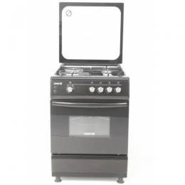 SCANFROST CK6400B - 60X60 CMS 4 GAS BURNER GLASS TOP LID|OVEN LAMP|GAS OVEN