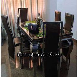 Classic Marble Dinning With 6 Chairs