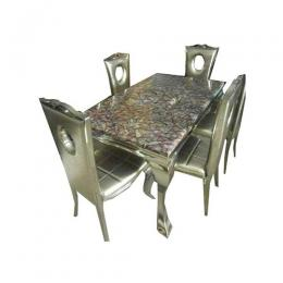 Classic Marble Dinning With 6 Chairs (II)