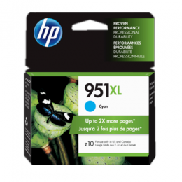HP 951XL High Yield Cyan Original Ink Cartridge (CN046AN)