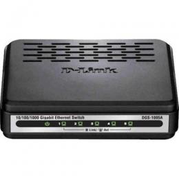 "D-LINK DGS-1005A/B ""5 port 10/100/1000Base-T unmanaged gigabit switch, UK power"