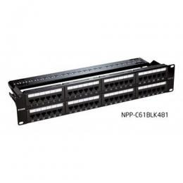 D-LINK NPP-C61BLK481 Patch Panel CAT 6 UTP Keystone TYPE- 48 Port Fully Loaded