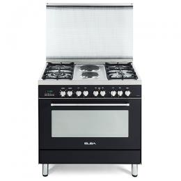 ELBA 9S4 EA 737N 4 Gas + 2 Electric Burners + Elect Oven Cooker|Black Anthracite