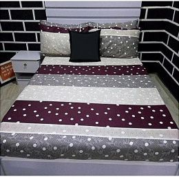 Deluxe Long Stripped Dotted Bedsheet