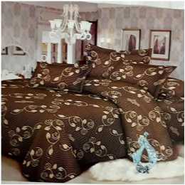 Deluxe Bedsheet With 4 Pillow Cases - Brown